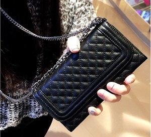 Image 1 - De luxe pliant miroir carte portefeuille en cuir Housse pour iphone XS MAX XR pour iphone 11 12 Pro Max 7 8plus bandoulière sac