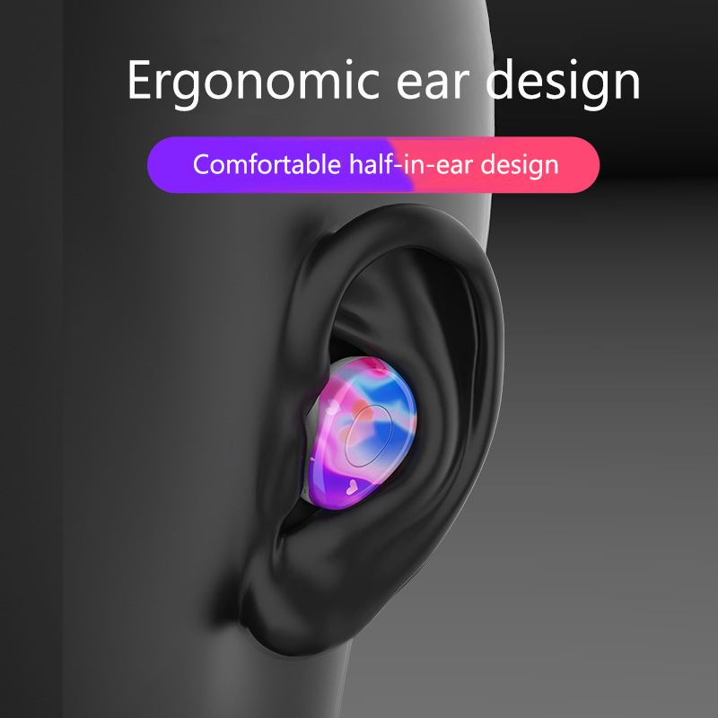 JS 5 0 Bluetooth Earphone Waterproof Earphones Wireless Music Earbuds With Charging Compartment Noise Cancelling Gaming Headset in Bluetooth Earphones Headphones from Consumer Electronics