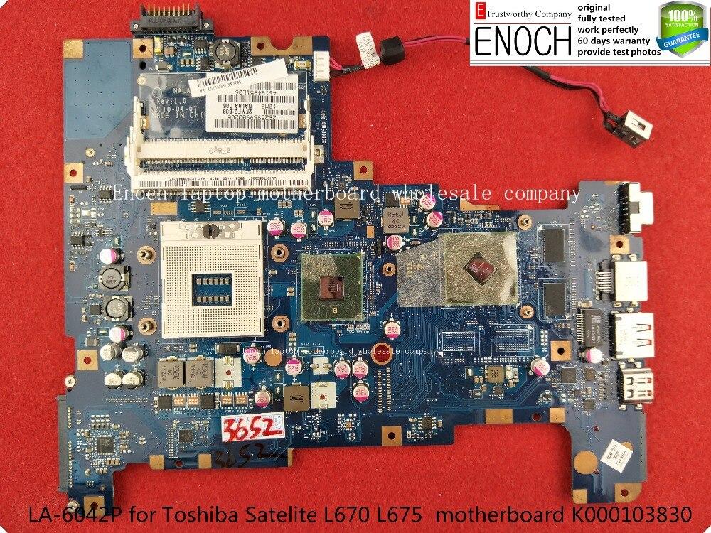 LA-6042P for Toshiba Satelite L670 L675 laptop motherboard with ATI graphics 512M K000103830 store No.421