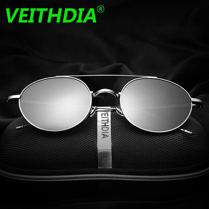 5bd93dbe175 Veithdia Men Polarized Sunglasses Brand Logo Design Driving Mirror Retro  Plane Vintage Sun Glasses Eyewear Fashion Accessories-in Sunglasses from  Apparel ...