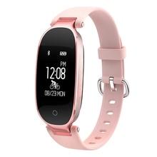 купить Nvpone S3 Fashion Smart Watch Band Bracelet Girl Women Heart Rate Monitor Smart Wrist Band Lady Female Fitness Tracker Wristband по цене 1690.15 рублей