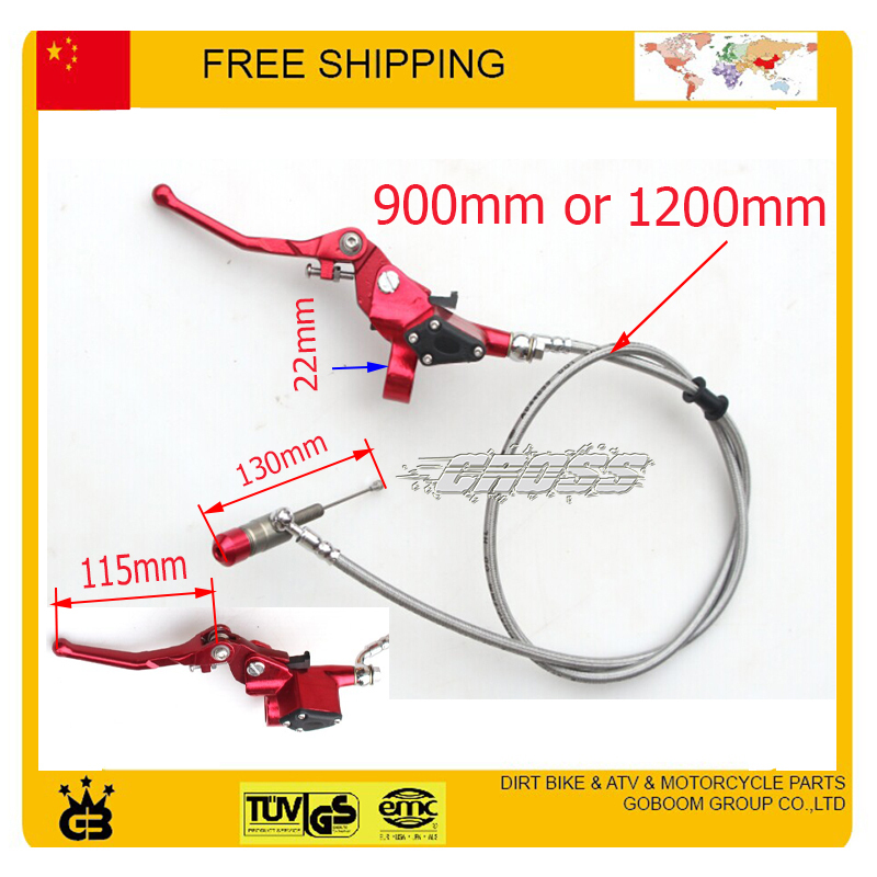 Hydraulic Clutch Level Master Cylinder Dirt Pit Monkey Bike Red Zongshen Loncin Lifan YX Oiled Engine Parts Free Shhipping