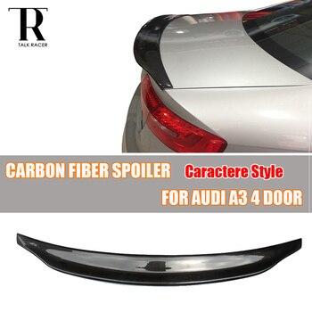 A3 C Style Carbon Fiber Rear Wing Spoiler for Audi A3 S3 RS3 4 DOOR Sedan 2014 - 2019
