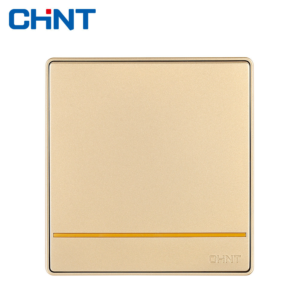 CHINT Modern Light Switches Wall Switch Socket NEW2D One Gang Multi Control 16A Steel Frame home installed wall switch socket 86 type concealed black steel frame to open a double control switch pc 220v 10a