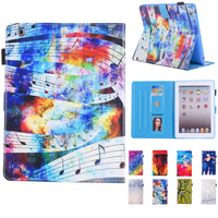 Case For IPad 234 Beautiful Starry Sky Series Folio Case Stand With Auto Wake Up Sleep