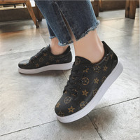 Woman Sneakers Spring/autmn 2018 brand design tenis feminino lace up Classic brown ladies flats shoes zapatos mujer