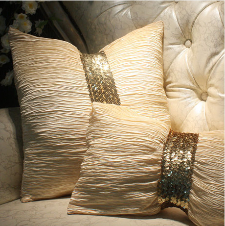 S&V European Luxury fashion decorative throw pillows Ruffle