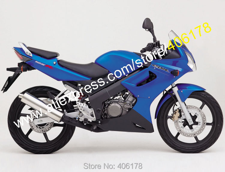 Hot Sales,Blue Black Factory Fairing For HONDA CBR125R CBR125RR CBR 125R 125RR CBR125 R 2002 2003 2004 2005 2006