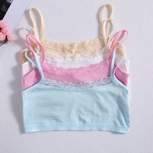 Young Girls Lace Bra Puberty Teenage Soft Cotton Underwear Training Clothing For Girl Children
