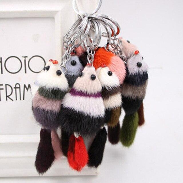 3 pcs A Raposa Animais Brinquedos Boneca Hairball Hairball chaveiro chaveiro Brinquedos Educação Caçoa o Presente Cor Aleatória