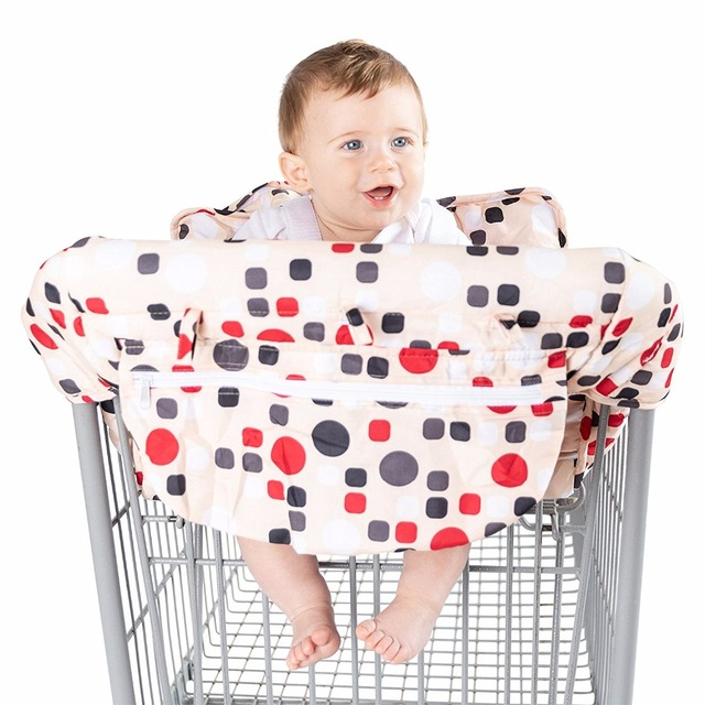 Enjoyable Aliexpress Com Buy Red Dot Pink Dot 2In1 Baby Highchair Cover Baby Shopping Cart Cover From Reliable Diaper Insert Suppliers On Hyang Hwa Spiritservingveterans Wood Chair Design Ideas Spiritservingveteransorg