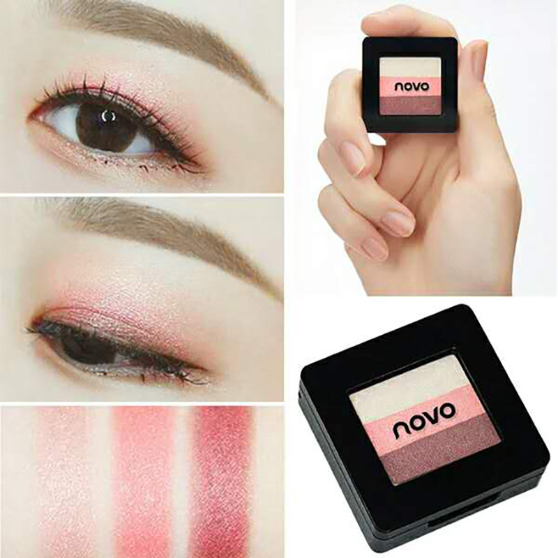 Beauty & Health Women Makeup Laser Shimmer Bronzing Glow Eyeshadow 3 Colors All Skin Type Palette 3 Colors 3 Years 3 Colors