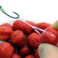 120 pièces granulés bande d'appâts en caoutchouc appât Bander carpe accessoires de pêche élastique appâts anneaux pour appâts Boilies porte-matériel