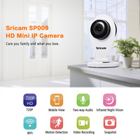 Sricam SP009 HD 720P Surveillance Camera H 264 Wireless ONVIF CCTV IP Security Camera With TF