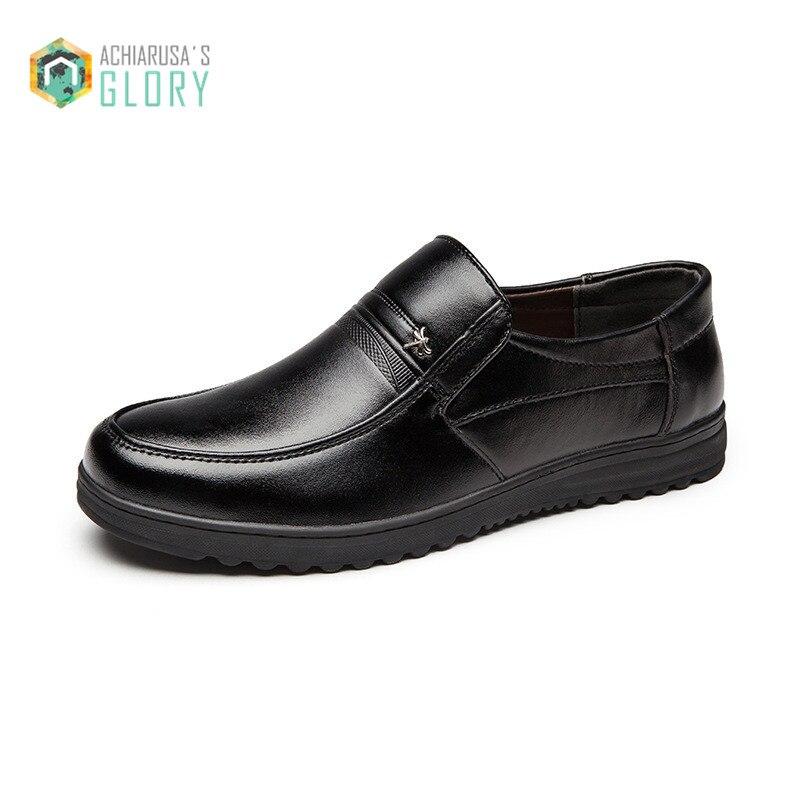 Tamaño 38-44 de Los Hombres de Inglaterra Zapatos Casuales de Cuero Genuino de L