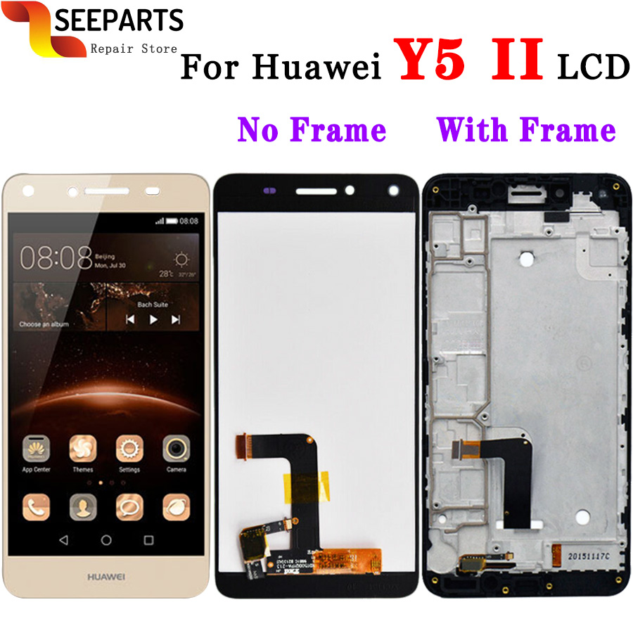 Huawei Y5 Ii Lcd Display Touch Screen 100% Tested Digitizer Assembly With Frame Replacement Huawei Y5 Ii Y5 2 Y5ii Display