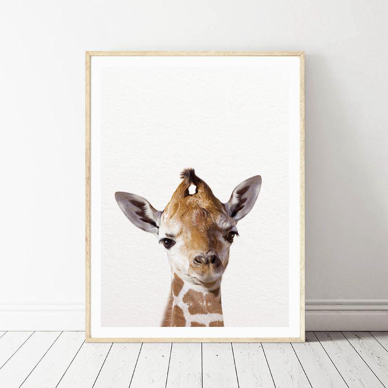 HTB1WM YXQKWBuNjy1zjq6AOypXaJ Lion Zebra Elephant Giraffe Baby Animals Art Print Poster, Safari Animals Picture Canvas Painting Kids Room Nursery Wall Decor