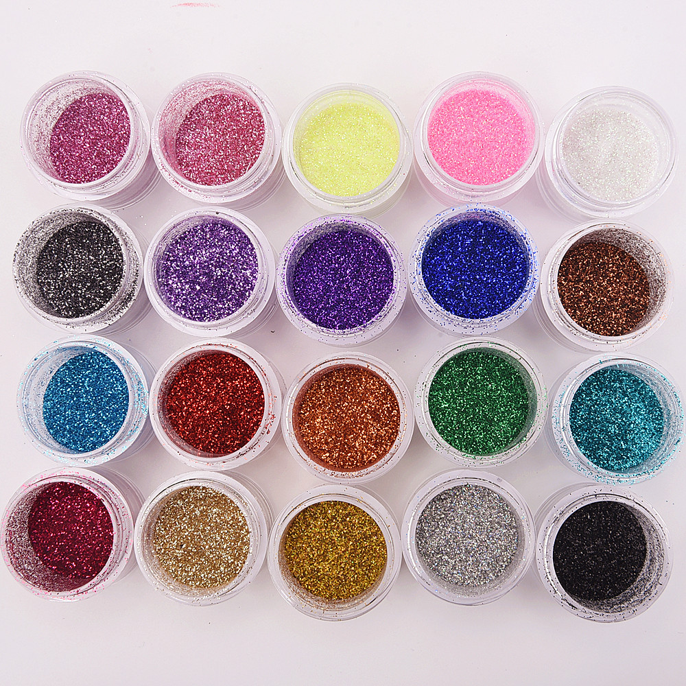 Beauty & Health Qibest Brand Pro Makeup Set Glitter Eye Shadow Face Eyes Lips Nails Shimmer Glitter Powder & Glue Waterproof Colorful Laser