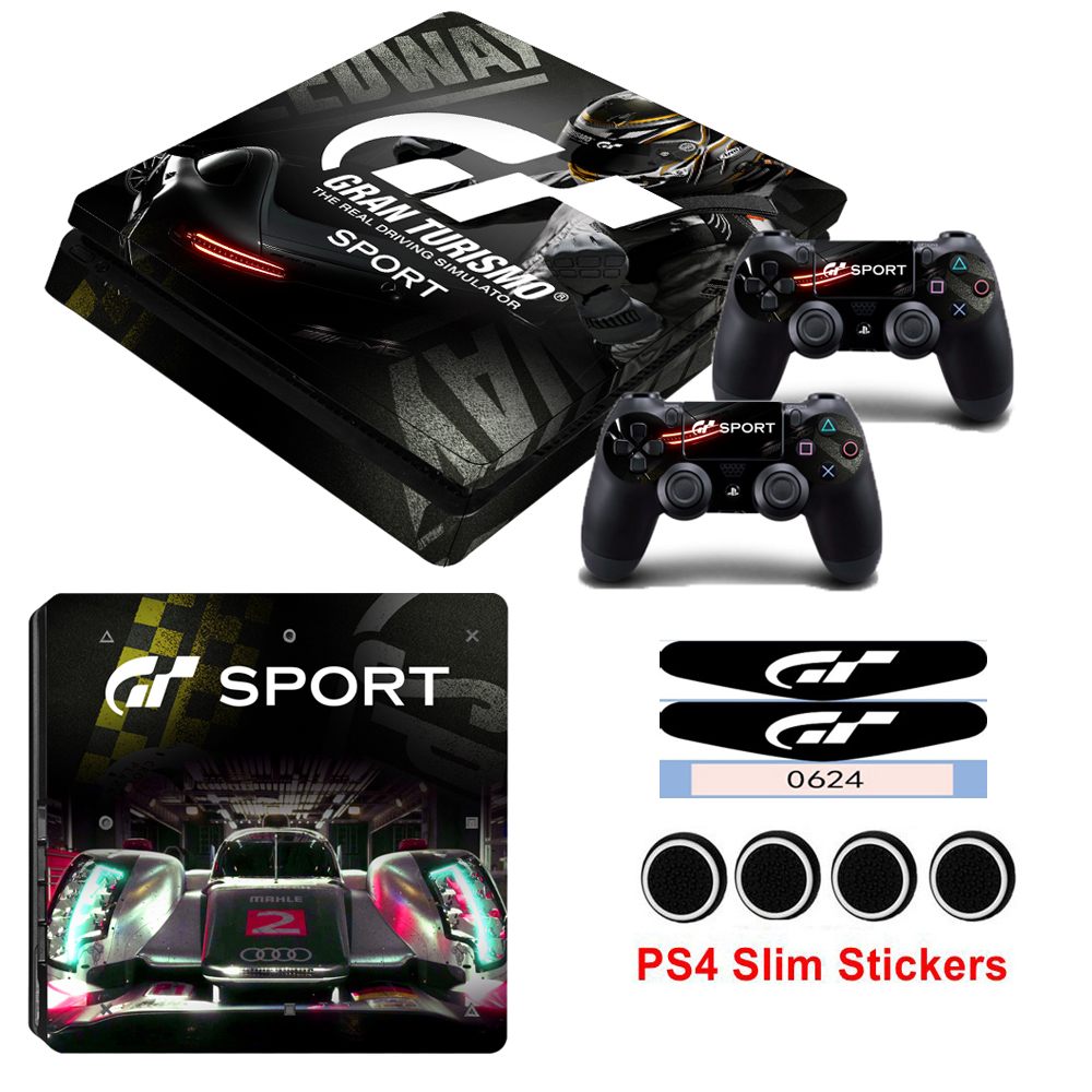 Trustful Gran Turismo Sticker Console Decal Playstation 4 Controller Vinyl 1 Ps4 Skin Faceplates, Decals & Stickers Video Games & Consoles