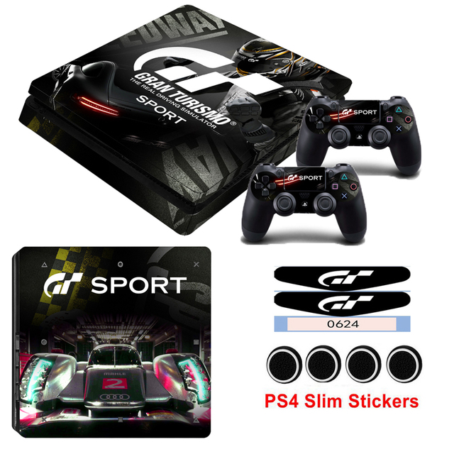 For Playstation 4 Slim Skin Sticker Cover PS4 Console Stickers And Decals Of 2 Controllers