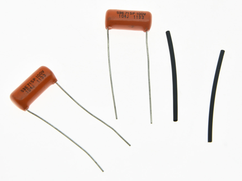 KAISH 2pcs Guitar Bass Sprague 715P Orange Drop Capacitors 0.1/0.015/0.022/0.033/0.068UF 100v/200v/400v/ Tone Cap
