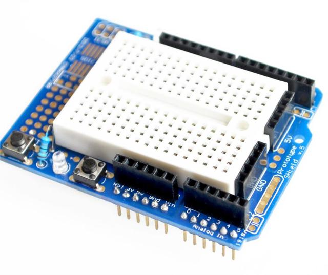 UNO Proto Shield prototype expansion board with SYB-170 mini breadboard based   UNO ProtoShield