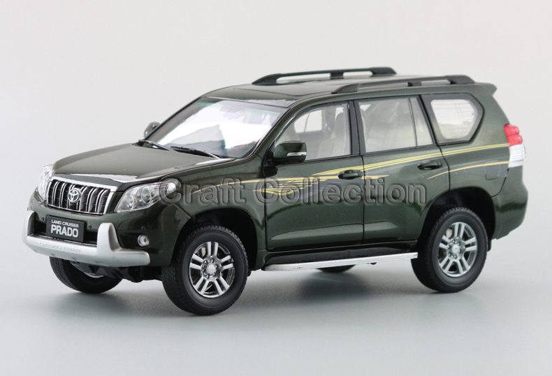 Hot Green 2010 1:18 New TOYOTA Land Cruiser Prado Diecast Model Cars Classic Jeep SUV Classic dc def adblue pump kit with flow meter and nozzles
