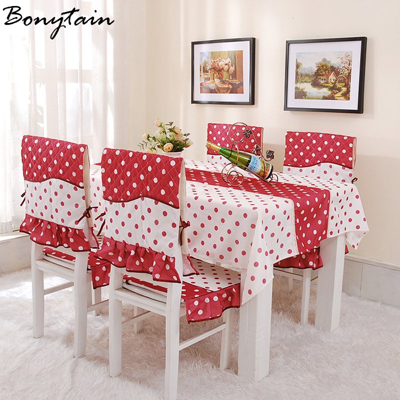 tablecloth flower printed dustproof table chair cover home dining room