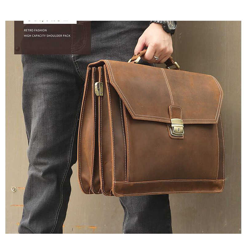 25bfb98f86c1 LEXEB Office Bag For Lawyer, Real Leather Executive Briefcases For Men, Fit  16