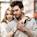 Swiss Agelcoer Casuais Genuínas Mulheres Correia de Couro Relógios Minimalismo Moda Casal Relógios de Quartzo Presente Relógio de Pulso À Prova D' Água