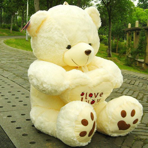 New Giant Plush Teddy Bear Soft Gift For Valentine Day Birthday 90cm/35.4  Inch White/Yellow In Stuffed U0026 Plush Animals From Toys U0026 Hobbies On  Aliexpress.com ...