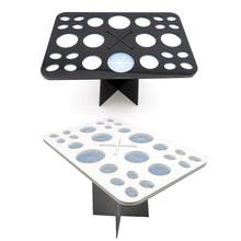 26 Holes Acrylic Makeup Brushes Holder Dryer Stand Organizing Rack Cosmetic Brushes Drying Holders Organizer Displaying Shelf(China)