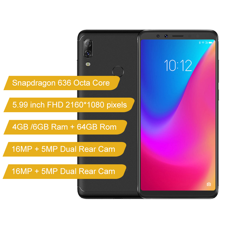 Image 2 - Global Firmware Lenovo K5 Pro 6GB 64GB 4G LTE Mobile Phone Snapdragon 636 Octa core 16MP Dual Front Back Camera Fingerprint-in Cellphones from Cellphones & Telecommunications