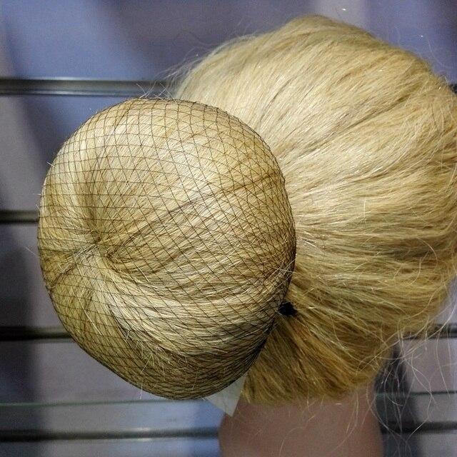 Оптовая продажа 100 шт. сетку для волос 5 мм нейлон балет булочка сетки для волос невидимым одноразовые сетка для волос 10 inch пять цветов смешивания