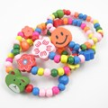 10pcs Wood Kids Bracelets Children Party Gift Wholeslae Girls Toy Bracelet Jewelry