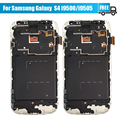 10PCS/LOT For Samsung Galaxy S4 i9505 i9500 LCD Display Touch Screen Digitizer Assembly With Frame Free DHL