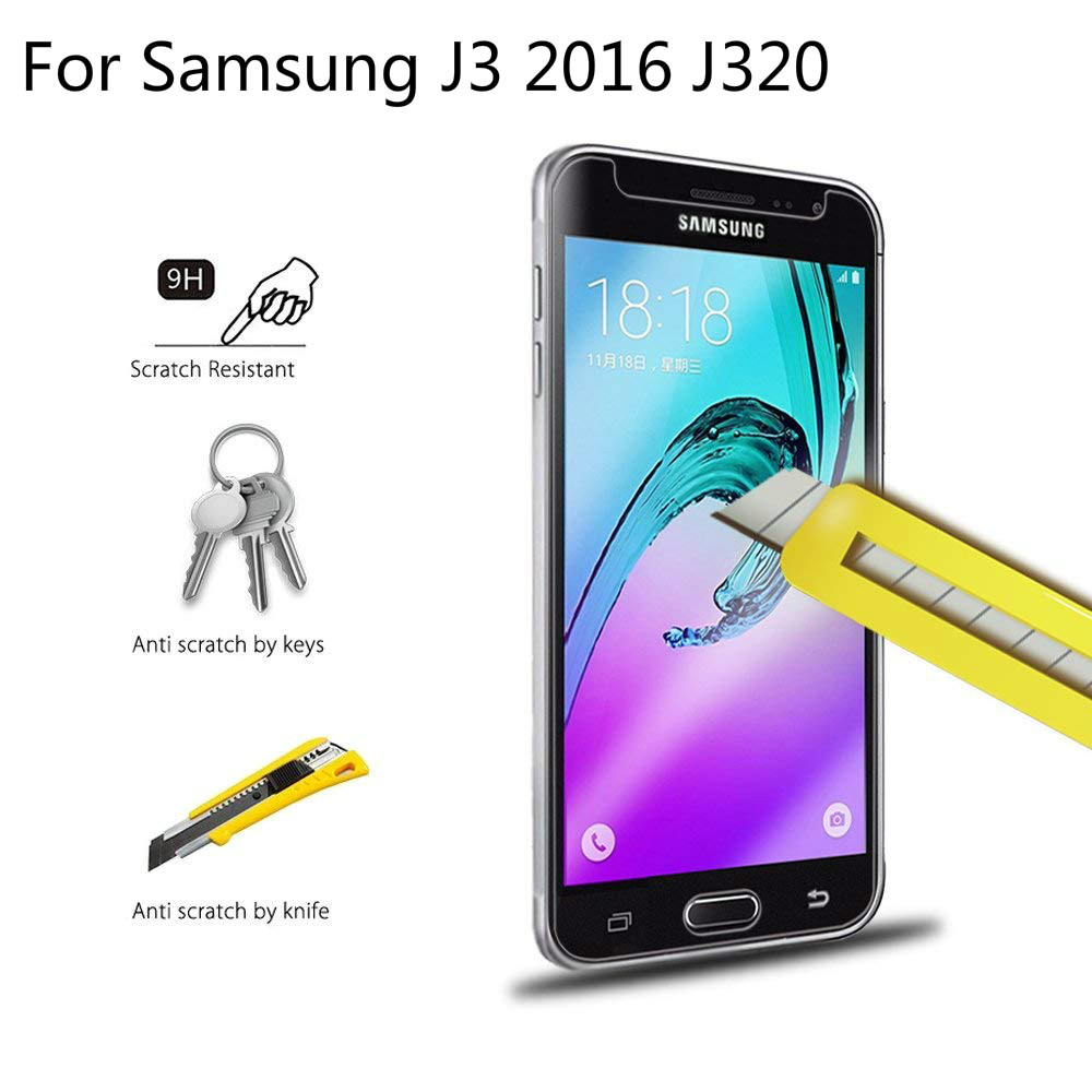 9H Tempered Glass For Samsung Galaxy J3 2016 J320 SM-J320FN Screen Protector Cover For Samsung J 3 2016 On J320 J320F/DS Glass9H Tempered Glass For Samsung Galaxy J3 2016 J320 SM-J320FN Screen Protector Cover For Samsung J 3 2016 On J320 J320F/DS Glass
