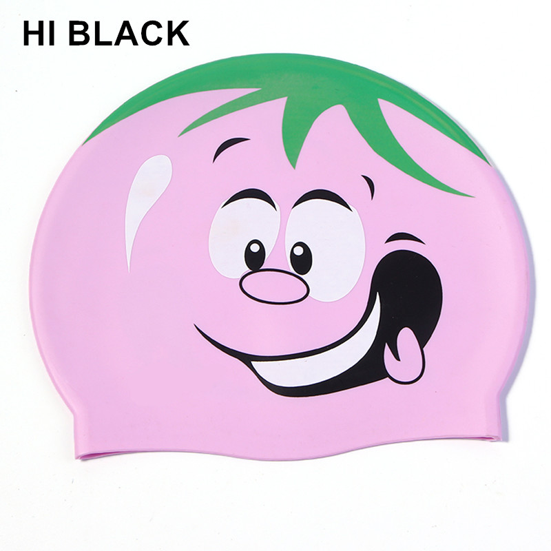 Lovely swim caps in pool Diving Swimming hat silicone swimming cap for Children kids Girls Boys Adults Cartoon Waterproof hat