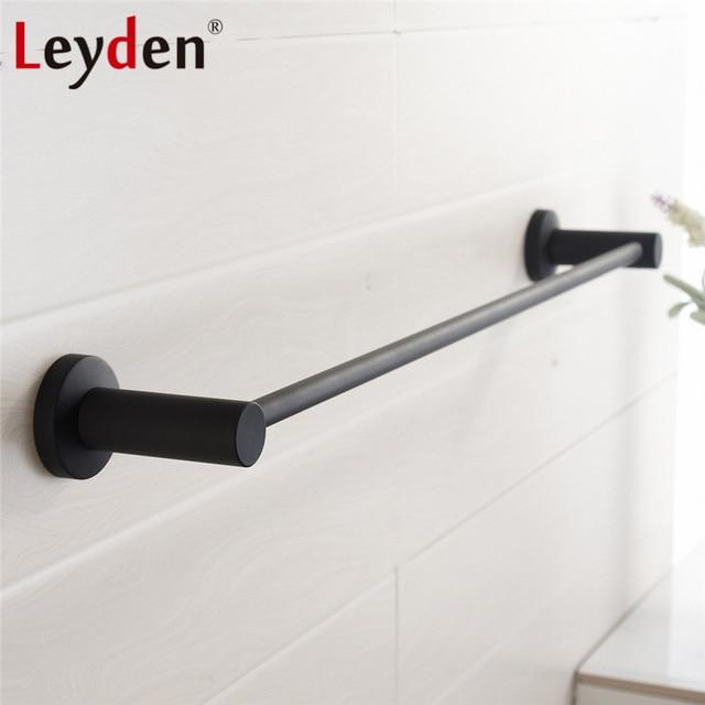 modern towel bar. Leyden 304SUS Stainless Steel Single Towel Holder Round Modern Rail Wall Mounted Black Bar A