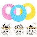 Детская шапочка с козырьком для ванны  Регулируемая Шапочка для душа  шапочка для душа  защита для волос для ухода за ребенком  регулируемая ...