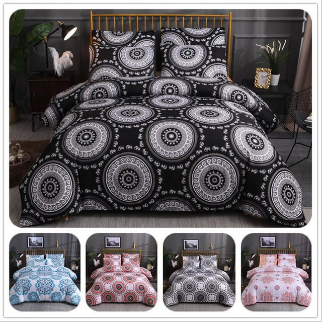 Fanaijia 3d Bohemian bedding Sets queen size Duvet Cover with Pillowcase Comforter Bed Set bed comforter Microfiber Fabric