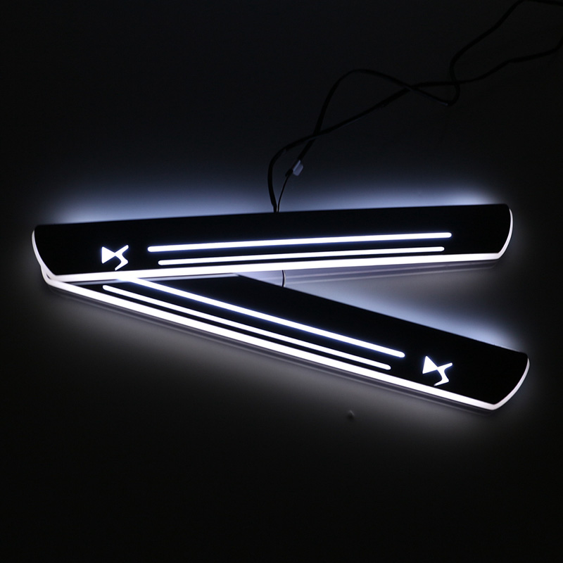 SNCN LED Car Scuff Plate Trim Pedal Door Sill Pathway Moving Welcome Light For Citroen DS5