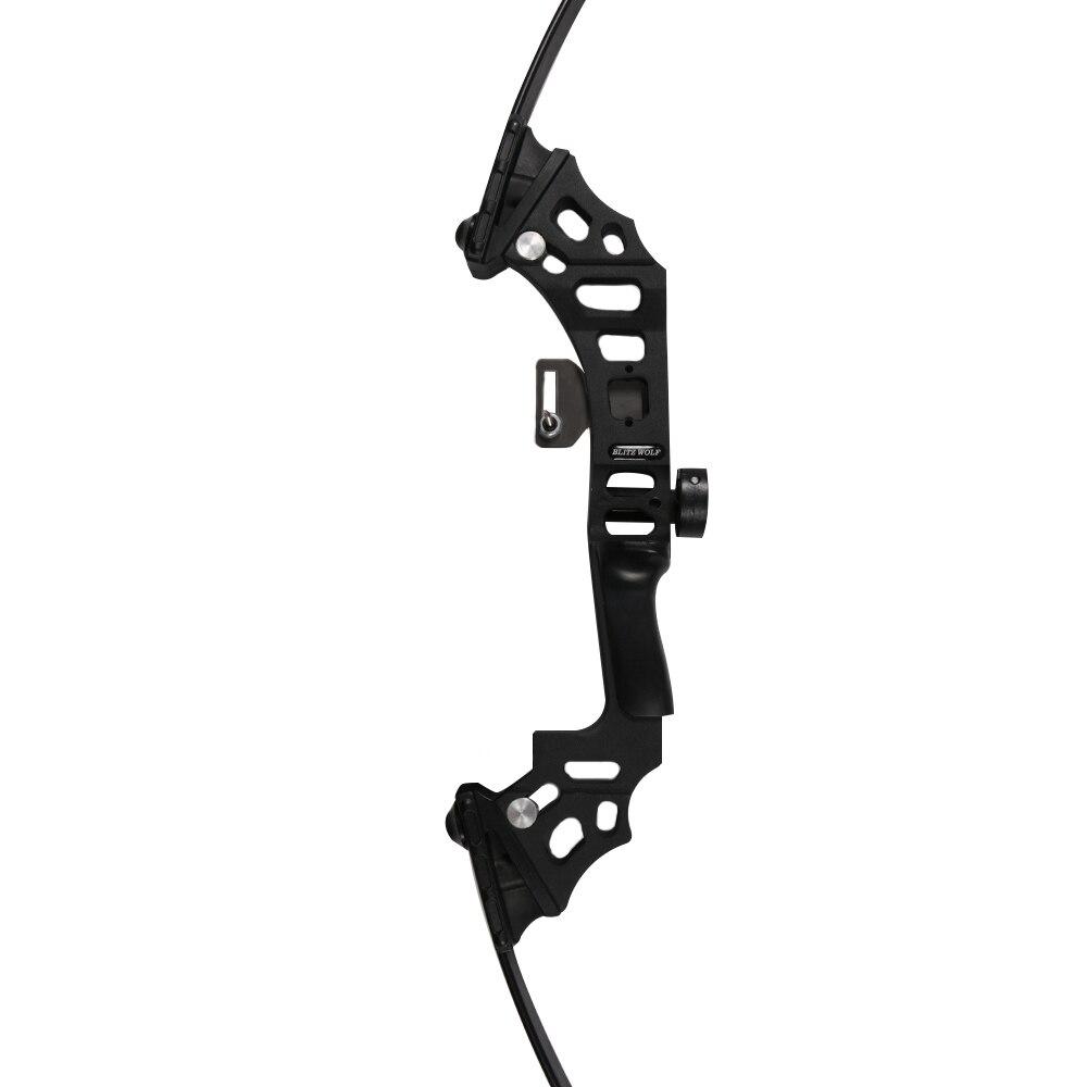 40lbs arc de pêche en aluminium recurve arc long arc droit pour démarreur - 5