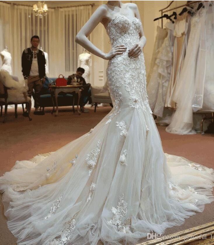 Pink Wedding Dresses Mermaid Style : Blush mermaid wedding dress from china