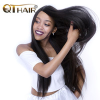 QThair Brazilian Straight Hair Natural Black Color Non Remy 100 Human Hair Weaving One Piece Lot