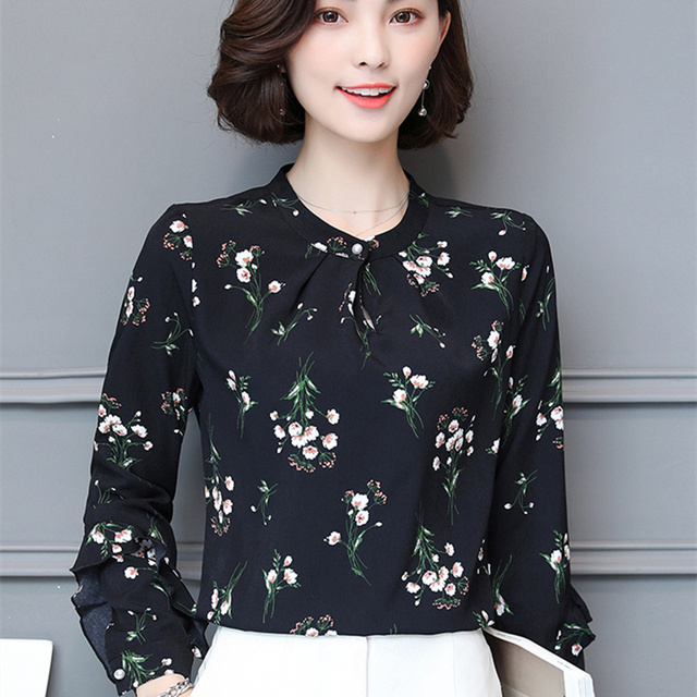 Women Chiffon Blouse Femme spring Long Sleeve Casual Womens Tops and Blouses Shirts Female Elegant Ladies Blusas Femininas