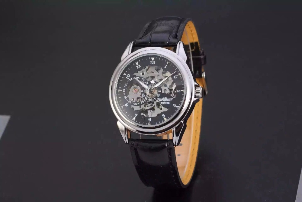 Authentic winner winners man <font><b>Fully</b></font> automatic hollow out mechanical watches Skin <font><b>restoring</b></font> ancient ways with a watch