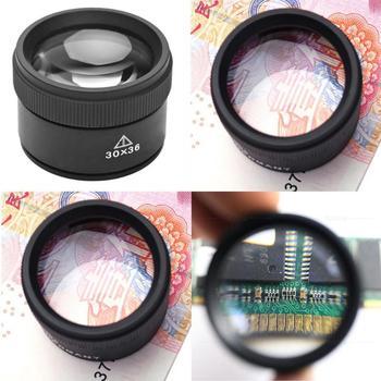 Lupa de mano 30X lupa de alta definición lupa de ojo portátil Mini herramienta de reparación instrumentos ópticos analíticos