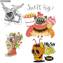 ZOTOONE Funny Animals Patches for Clothing Unicorn Heat Transfers T-shirts Stickers Skull Applications Iron on Gift