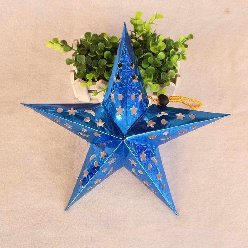 1PC 30cm-45cm-60cm glänsande stjärna Papper lampskärm lykta blomma - Semester och fester - Foto 3